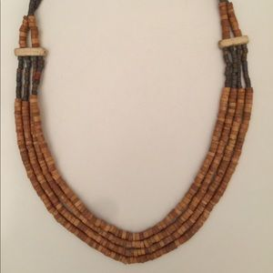 Vintage Clay Bead Necklace